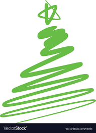 Abstract Christmas Tree A Simple Drawing Vector Image