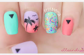 palm tree nail design tutorial summer nail art my oh