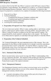 Rfp Response Cover Letter Template Elegant Rfp Response Cover Letter ...