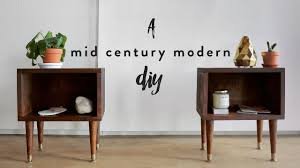 DIY MID CENTURY MODERN NIGHT STANDS | THE SORRY GIRLS - YouTube