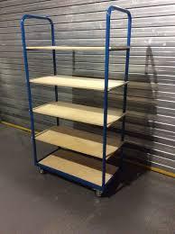 bigdug five level shelf trolley order picker cart warehouse room racking