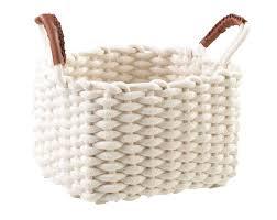 Korb Pria 2 Weiß B 28 Cm Baumwolle