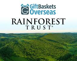 rainforest trust and gift baskets overseas partnership