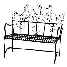 furniture motifs. Bench Garden Metal Brown Two-seater With Heart And Bird Motifs \u2013 Bild 1 Furniture