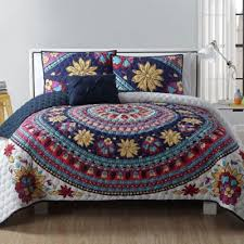 Buy Twin XL Quilts from Bed Bath & Beyond & VCNY Ahimsa 4-Piece Quilt Set in Ivory/Purple Adamdwight.com