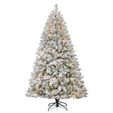 Flocked Christmas Tree Holiday Living 7 Ft Weston Fir Flocked Pre Lit Artificial