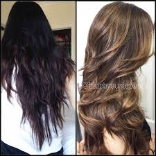Dark Brown To Light Brown Transformation Going For A Subtle Brown Sombre Wellness