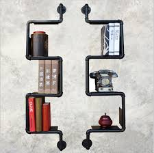 modern industrial furniture. 2 pcs american industrial retro nostalgia thick wrought iron art display shelf bookcase put things modern industrial furniture