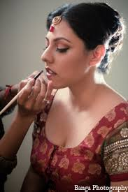 indian wedding bride simple makeup in toronto ontario indian wedding by banga photography