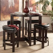 modern dining room design with cylina solid wood glass top round counter height kitchen table set