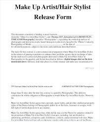 makeup artist contract template sle makeup artist release form makeup artist client contract template