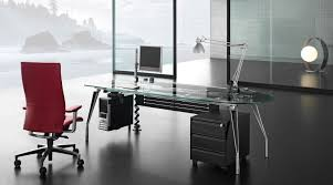 glass executive office desk  home