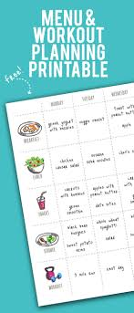 workout planner template menu exercise planner free printable wholefully