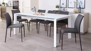grey and white extending dining set uk