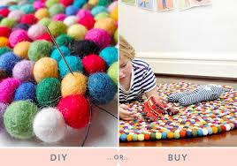 diy or a felt ball rug