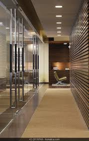 office entrance tips designing. Contemporary Modern Minimalistic Entrance Hallway, Office With Wood Panel Recess Light And Carpet Floor Tips Designing C