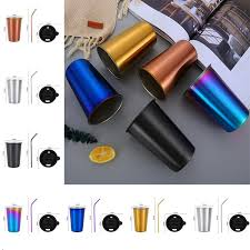 high quality portable stainless steel beer cup water cup drinks cup kitchen bar tools outdoor camping travel mugs t5i116 water bottles sport water bottles