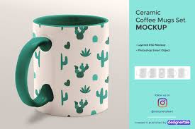 Let's admit that the moving objects look better than the static one, so it's high time you stock up on animated mug mockup scenes! Ceramic Coffee Mugs Mockup Set Designertale