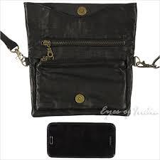 black leather belt hip waist pouch bag womens pack travel purse 3