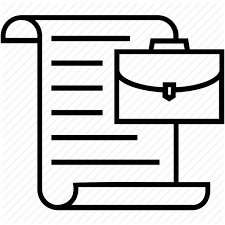 Briefcase Document Resume Work Experience Work History Icon