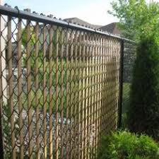 chain link fence slats brown. Decorating: How Chain Link Fence Slats Beautify Your Garden . Brown