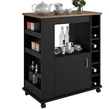 portable kitchen island for sale. Portable Kitchen Island Cart With Wine Rack \u2013 Rolling Utility Is Perfect For Serving Guests Sale Y