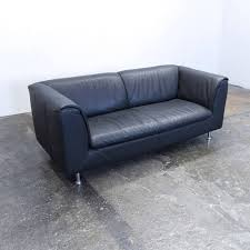 Couch Anthrazit Leder
