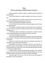 money advantages and disadvantages of havin id  essays money advantages and disadvantages of having it 1