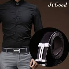 jvgood men belt pu leather belt formal with removable buckle for jeans suit workout shorts work gym malaysia