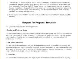 Course Proposal Template Request For Training Proposal Template Sample Proposals