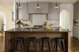 chocolate brown center island with soapstone countertop