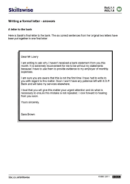 Formal Letter English Writing A Formal Letter