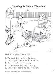 Teaching Following Directions Kindergarten Worksheets. Teaching ...