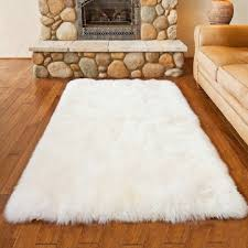 furry white rug white sheepskin rug small faux fur rug faux skin rug