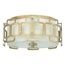 sabina flush mount ceiling light silver leaf