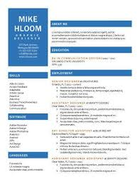 Free Resume Template By Hloom Com Project Management