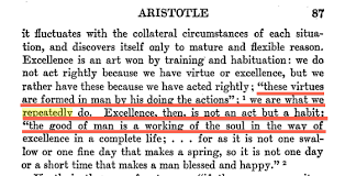 Aristotle Excellence Quote New It's A MUCH More Effective Quotation To Attribute It To Aristotle