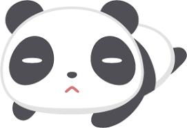 ゴロゴロしているパンダの無料ベクターイラスト素材 Picaboo