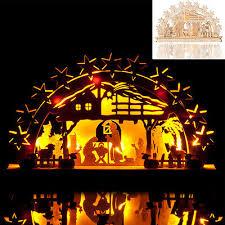Lichterbogen Krippe Schwibbogen Weihnachtsdeko Fensterdeko