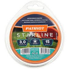 <b>Леска для триммера Patriot</b> Standart/StarLine звезда зеленая ...