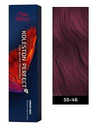 Koleston Foam Hair Color Chart Wella Koleston Perfect Me Permanent Hair Color 55 46 Intense Light Brown Red Violet