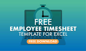 Excel Timesheet Download Free Employee Timesheet Template For Excel When I Work