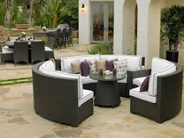 round outdoor dining table for 6 stylish round wicker patio dining set sppot