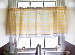 Red Plaid Kitchen Curtains Blue Plaid Curtains And Valances