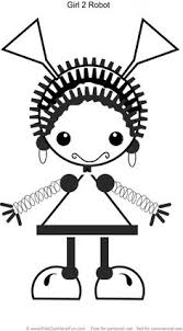 Small Picture Robot Girl 1 Coloring Page httpwwwkidscanhavefuncomrobot