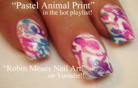 HOT Nail Art Tutorials | Pastel Leopard Print Nail Art Design ...