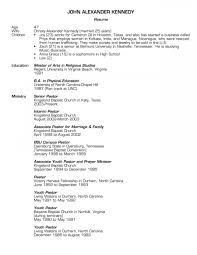 Pastor_Resume page 1 - Pastor candidate resume page 1