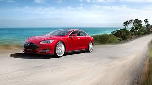 Image result for mobil listrik Tesla Model S merah