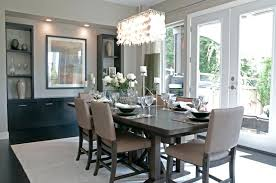 height hanging light fixture over dining table