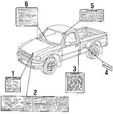 parts com® mazda b3000 labels oem parts 2007 mazda b3000 ds v6 3 0 liter gas labels